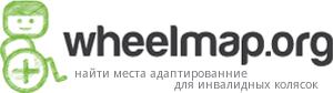Логотип Wheelmap - найти места, доступные на кресле-коляске